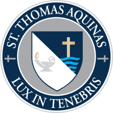 The logo for St. Thomas Aquinas High School in Dover, NH