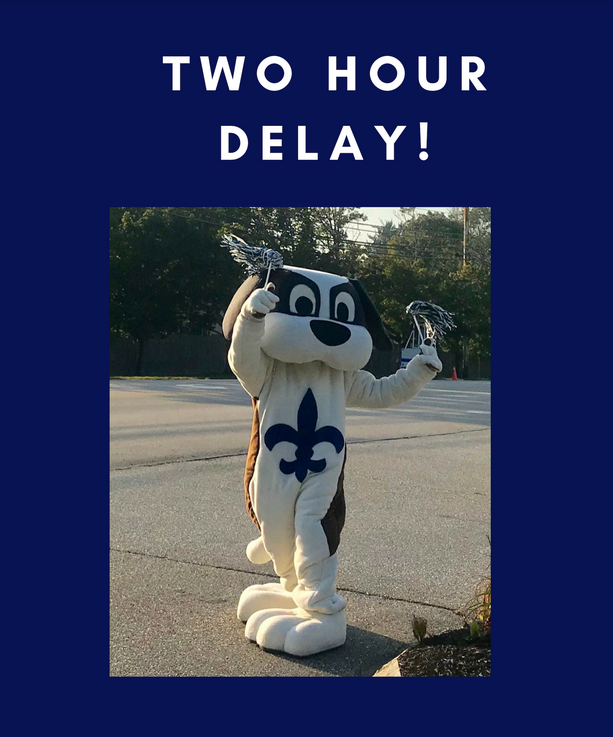 Two Hour Delay on Thursday, February 21.